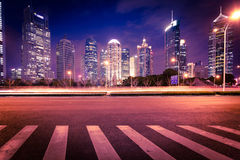 Shanghai Pudong City Night Royalty Free Stock Photography