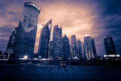 Shanghai Pudong City Night Stock Image