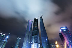 Shanghai Pudong, the city's night Stock Photography