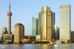 Shanghai Pudong de Dijk Lujiazui Royalty-vrije Stock Foto