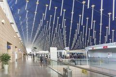Shanghai pudong flygplats i porslin arkivbilder