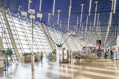 Shanghai pudong flygplats i porslin arkivbild