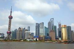 Shanghai Pudong-horizon Stock Afbeeldingen