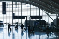 Shanghai Pudong International Airport. Back lit Stock Photography