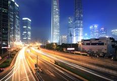 Shanghai Pudong lujiazui Datenbahn Stockfotos