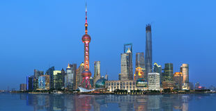 Shanghai Pudong Lujiazui Night Royalty Free Stock Images
