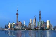 Shanghai pudong lujiazui  night scene Royalty Free Stock Image