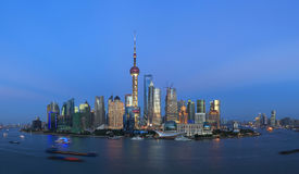 Shanghai pudong lujiazui  night scene Royalty Free Stock Image