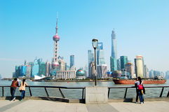 Shanghai Pudong Lujiazui skyline Stock Photo