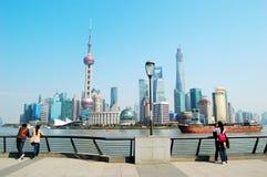 Shanghai Pudong Lujiazui skyline stock photo