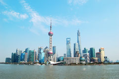 Shanghai Pudong Lujiazui skyline Royalty Free Stock Image