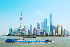 Shanghai Pudong Lujiazui skyline Royalty Free Stock Photo