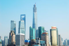 Shanghai Pudong Lujiazui skyline Royalty Free Stock Photos