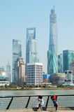 Shanghai Pudong Lujiazui skyline Royalty Free Stock Images