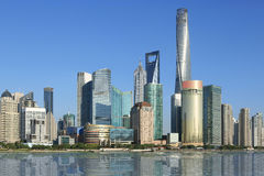 Shanghai,pudong.lujiazui,skyscrapers Royalty Free Stock Image