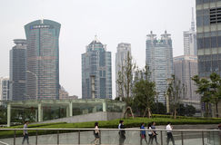 Shanghai Pudong modern office buildings. A Shanghai modern office buildings  and landscapes background ,China Royalty Free Stock Photos