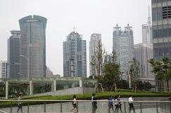 Shanghai Pudong moderna kontorsbyggnader Royaltyfria Foton
