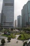 Shanghai Pudong moderna kontorsbyggnader Arkivbilder