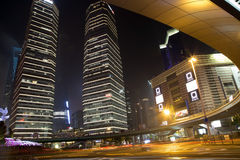 Shanghai Pudong  at night Stock Photos