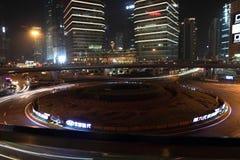 Shanghai pudong at night Stock Images