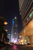 Shanghai pudong at night Stock Photos