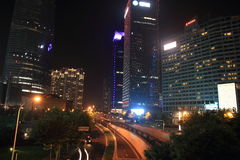 Shanghai pudong lujiazui at night Royalty Free Stock Photos