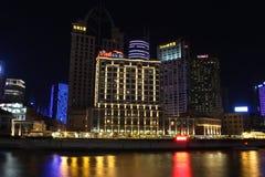 Shanghai Pudong noc Zdjęcie Stock