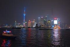 Shanghai Pudong nytt område Arkivfoto