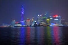 Shanghai Pudong nytt område Arkivbild
