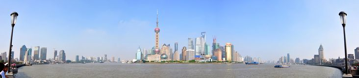 Shanghai Pudong panorama, China Royalty Free Stock Photo