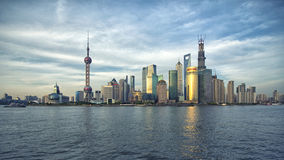 Shanghai Pudong-Skyline Stockfotos
