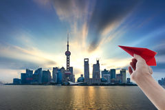 Shanghai Pudong skyline Royalty Free Stock Images