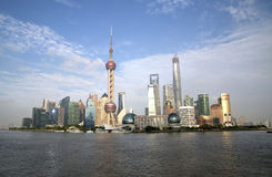 Shanghai Pudong skyline Royalty Free Stock Photo
