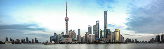 Shanghai Pudong skyline Stock Images