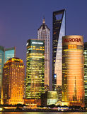 Shanghai Pudong skyline at night Royalty Free Stock Photos