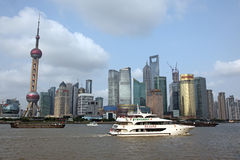 Shanghai Pudong skyline view from the Bund - Royalty Free Stock Image
