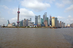 Shanghai Pudong skyline view from the Bund - Royalty Free Stock Photos