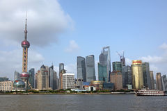 Shanghai Pudong skyline view from the Bund - Stock Images