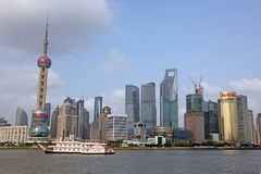 Shanghai Pudong skyline view from the Bund - Stock Image