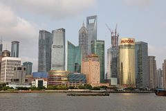 Shanghai Pudong skyline view from the Bund Stock Photography