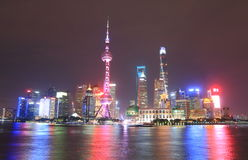 Shanghai Pudong skyscrapers cityscape China Stock Photos