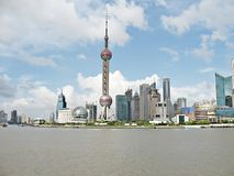Shanghai 1. Shanghai Pudong - skyscrapers and Oriental Pearl Tower Royalty Free Stock Image