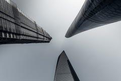 Shanghai pudong tre landmarksï¼ ŒChina Royaltyfri Bild