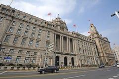 Shanghai pudong utveckling packar ihop royaltyfri fotografi