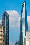 Shanghai pudong view from puxi Royalty Free Stock Images