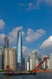 Shanghai pudong view from puxi Stock Photography