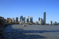 Shanghai puxi huangpu river. Shanghai puxi financial gathering place. zhaofuxin 2017.9 royalty free stock images