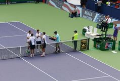 2014 Shanghai Rolex Masters-doubles final Stock Image