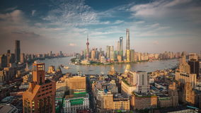 Shanghai roof top cityscape bay sunset panorama 4k time lapse china. China shanghai famous roof top cityscape bay sunset panorama 4k time lapse stock video footage
