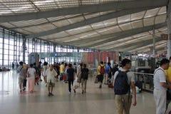 Shanghai södra järnvägsstation Arkivfoton
